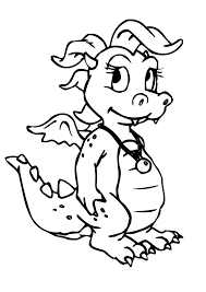 best ideas of 2017 coloring pages a cartoon dragon with template