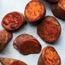 bay roasted sweet potatoes