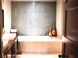 Inexpensive Bathroom Tile Ideas by Pretty Mosaic Tiles Wall Design For Small Bathroom Over Jacuzzi
