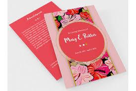 baby funeral program hibiscus a5 tri fold funeral program te design bundles