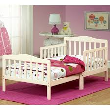 the orbelle contemporary solid wood toddler bed french white