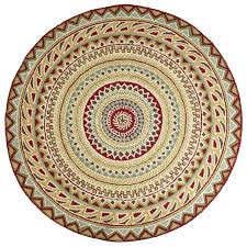 Pier 1 Outdoor Rugs by Fair Isle Red 6 U0027 Round Rug Round Rugs Decorating And House