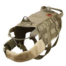 onetigris tactical dog training molle vest harness coyote brown