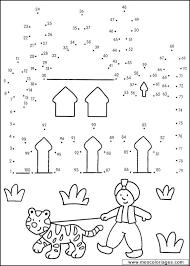 coloriage points a points page 09 à colorier allofamille