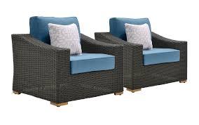 Patio Club Chair New Boston Wicker Patio Lounge Chairs Denim Blue 2 Pack U2013 La Z