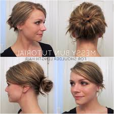 easy messy buns for shoulder length hair low messy bun hairstyle popular long hairstyle idea