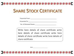 stock certificate template free certificates templates stock