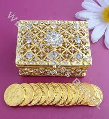arras boda rectangular gold rhinestone wedding arras box unity coins arras
