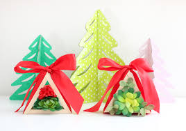 simple wooden tree succulent ornaments diy christmas ornaments