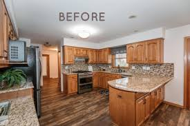 how to paint oak cabinets diy painted oak kitchen cabinets makeover average but inspired