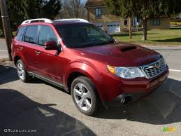 subaru forester touring xt 2011 camelia red metallic subaru forester 2 5 xt touring 61241606