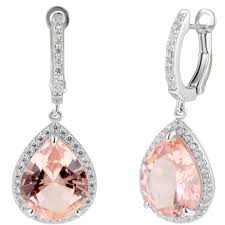 serenity earrings crislu serenity pink cubic zirconia leverback earrings in sterling