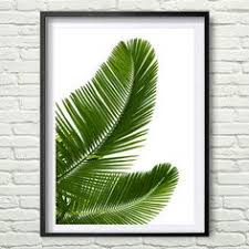 Tropical Decor Palm Leaves Palm Print Wall Art Tropical Decor By Paperpixelprints