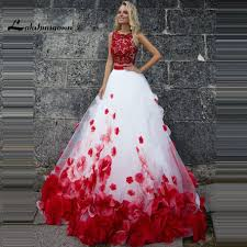 new wedding dress new style two wedding dresses with flowers custom made