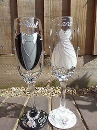 wedding glasses best 25 painted chagne flutes ideas on toast for