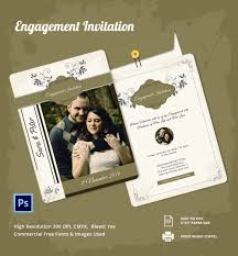 free printable engagement invitations templates cloudinvitation com