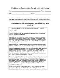 paraphrasing and summarizing lesson plans u0026 worksheets