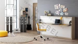 Schreibtisch In Buche Quer Wandbett Schrankbett Singlo Desk 90 X 200 Cm In Weiß Buche