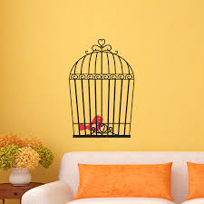 vintage bird cage wall quotesa art decal wallquotes vintage bird cage