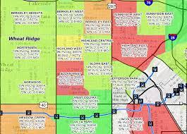 Denver Neighborhoods Map Denver Neighborhood Appreciation Map For 2016