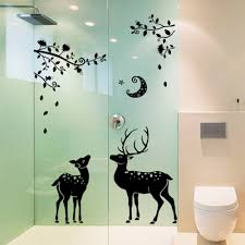 online get cheap deer family wall decals aliexpress com alibaba christmas deer tree wall decal with reindeer wall sticker family wall art decor china