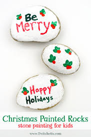 christmas painted rocks stone painting for kids