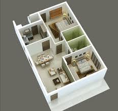 3d 2bhk home plan house design plans