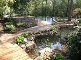 Pond Landscaping Ideas Exterior Design Stacked Stone Veneer With Pond Landscaping Ideas