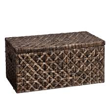 wicker storage trunk outdoor diy wicker storage trunk on bench
