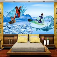 popular surf wall mural buy cheap surf wall mural lots from china 3d photo wallpaper custom mural kids room passion summer surfing 3d painting sofa tv background non