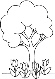 Tree Coloring Pages Cartoonrocks Simple Tree Coloring Page In Tree Coloring Pages