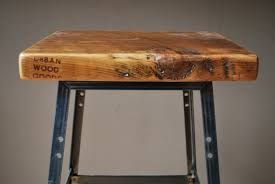 Reclaimed Wood Bar Table Reclaimed Wood And Steel Industrial Stools Table Height