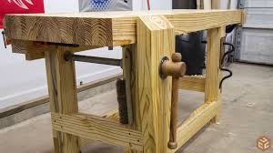 Woodworking Bench Vise Installation by Workbench Vises Jays Custom Creations