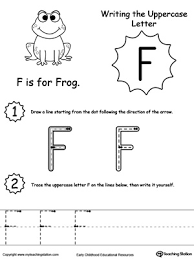 tracing and writing the letter f myteachingstation com