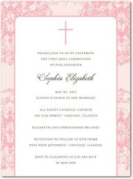 communion invitations for girl cathedral ceiling girl communion invitations in le papier