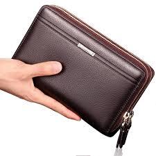 designer handy business wallet brand designer zipper leather purse
