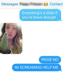 Paige Meme - text message anything s a dildo if you re brave enough know