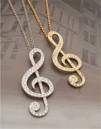 long chain key necklace images Fashion women jewelry gold crystal music note violin key long JPG