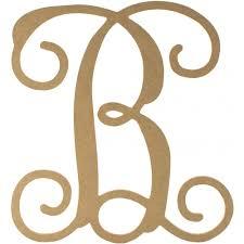 monogram letter b 12 wood letter vine monogram b ab2197 craftoutlet