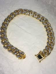 cuban gold bracelet images 10k gold iced out miami cuban bracelet dfine lifestyle online jpg