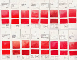 jane blundell artist watercolour comparisons 6 reds