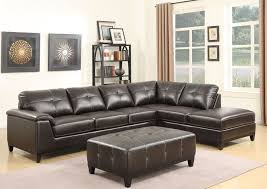 Viewpoint Leather Sofa by Marquis Walnut Brown 3 Piece Sectional From Emerald Home Coleman
