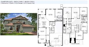 Single Family House Floor Plans by Champions Gate Floor Plans
