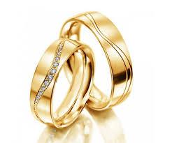 alliance en or calie duo d alliances en or jaune 18 cts et diamants www