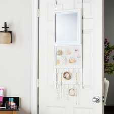 Kirklands Jewelry Armoire White Wood Over The Door Jewelry Armoire Mirror Kirklands