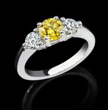 Make Wedding Ring by Fancy Yellow Diamond Wedding Rings The Wedding Specialiststhe