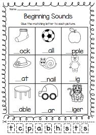 beginning sounds printable worksheet pack pre k kindergarten