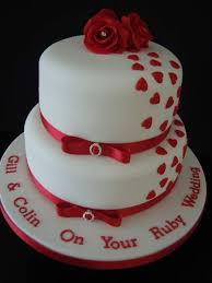 ruby wedding cakes ruby anniversary cakes ruby wedding anniversary cake cakes