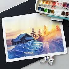 photo reference wisslaren schmincke watercolor on