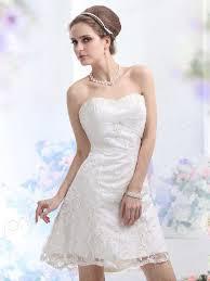 short ivory wedding dresses